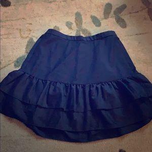 JCrew Ruffle Hem A-Line Skirt/ Navy